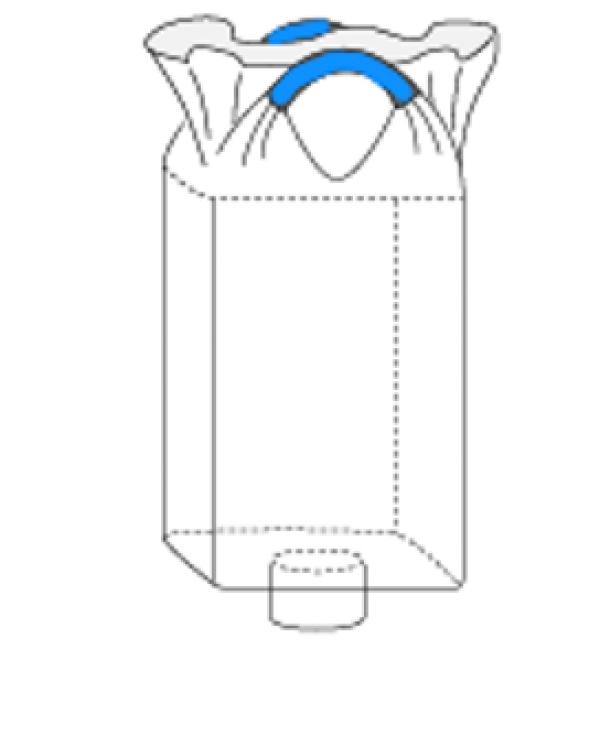 Двухстропный контейнер МКР с верхней сборкой и нижним люком